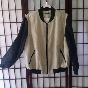 FOR CYNTHIA TAN AND BLACK BOMBER JACKET SIZE 2X
